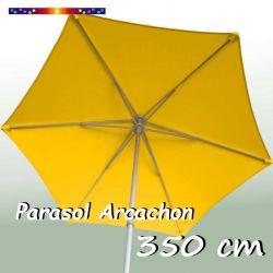 Parasol Arcachon Jaune d'Or 350 cm Alu : vu de dessous