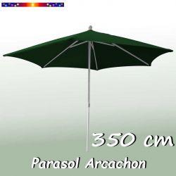 Parasol Arcachon Vert Pinède 350 cm : vu de face