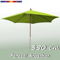 Parasol Arcachon Vert Limone 350 cm : vu de face