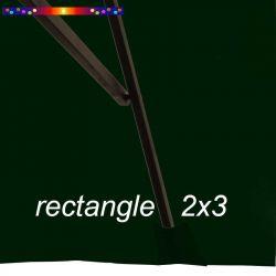 Toile de remplacement pour parasol rectangle 2x3 Vert Pinède : pochon de fixation de la toile