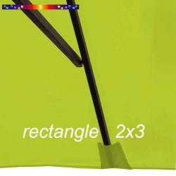 Toile de remplacement pour parasol rectangle 2x3 Vert Lime : pochon de fixation de la toile