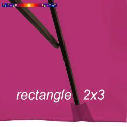 Toile de remplacement pour parasol rectangle 2x3 Rose Fushia : pochon de fixation de la toile