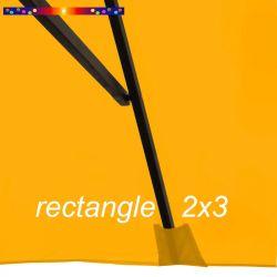 Toile de remplacement pour parasol rectangle 2x3 Tournesol : pochon de fixation de la toile