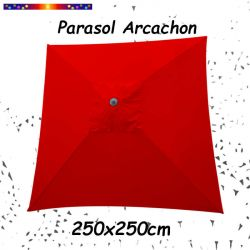 Parasol Arcachon Ecru 250 x 250 cm Alu