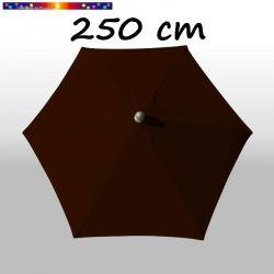 Parasol Arcachon Mocca 250 cm Alu : vu de dessus
