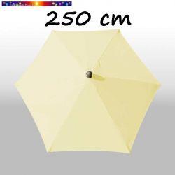 Parasol Arcachon Ecru 250 cm Alu : vu de dessus