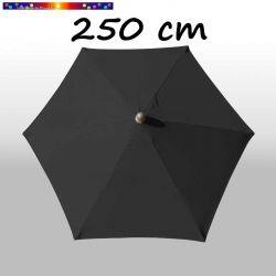 Parasol Arcachon Gris Anthracite 250 cm Alu : vu de dessus