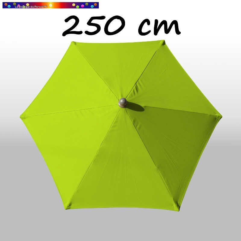 Parasol Arcachon Vert Limone 250 cm : vu de dessus