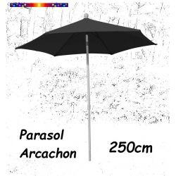 Parasol Arcachon Gris Anthracite 250 cm Alu : vu de face