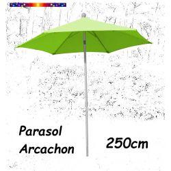 Parasol Arcachon Vert Limone 250 cm : vu de face