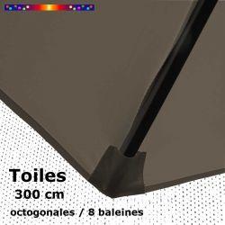 Toile de remplacement Taupe  pour Parasol Octogonal 300 cm