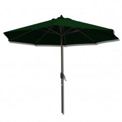 Parasol Lacanau rond (octogonal) Diamètre 300 cm en Aluminium à manœuvre par manivelle toile Vert Pinède : parasol vu de face