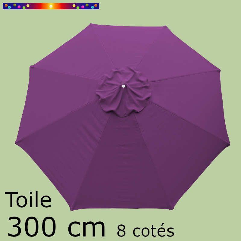 Toile OCTOGONALE (8cotés) 300 cm Violette  (mât central)