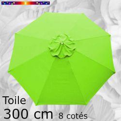 Toile OCTOGONALE (8cotés) 300 cm Vert Lime (mât central)