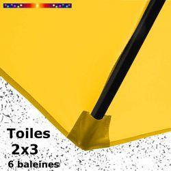 Toile Jaune Bouton d'Or pour parasol Lacanau rectangle 2x3 : coté bas de la baleine