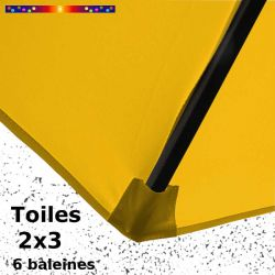 Toile Tournesol pour parasol Lacanau rectangle 2x3