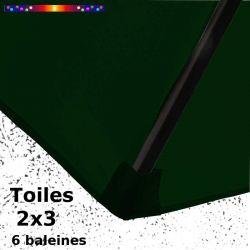 Toile Vert Pinède pour parasol Lacanau rectangle 2x3 : coté bas de la baleine