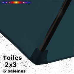 Toile de remplacement pour parasol rectangle 2x3 Bleu Océan