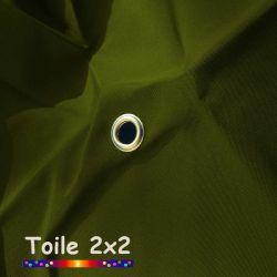 Toile de remplacement pour parasol carré 2x2 Vert Olive : détail de l'oeillet central