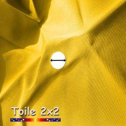 Toile de remplacement pour parasol carré 2x2 Jaune Bouton d'Or : détail de l'oeillet central
