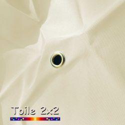 Toile de remplacement pour parasol carre 2x2 Ecru Crème  : détail de l'oeillet central