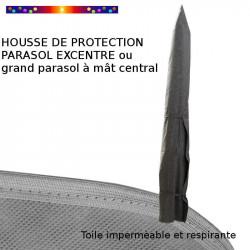Housse pour parasol 275 cm x Largeur 57 cm : Toile protectrice respirante