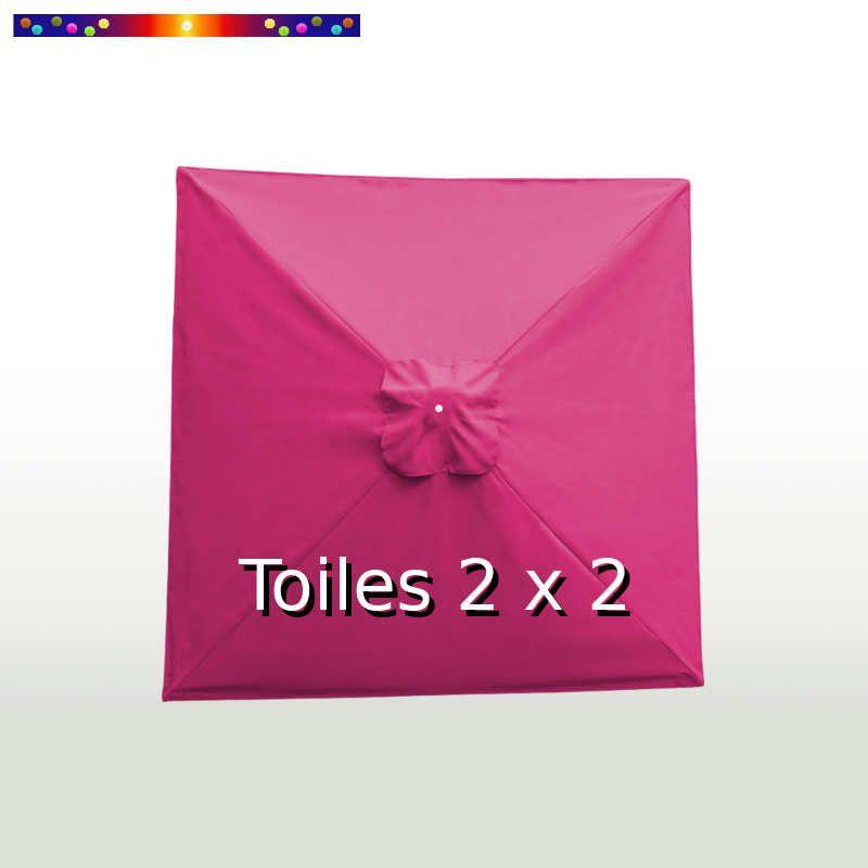 Toile de remplacement pour parasol carré 2x2 Rose Fushia
