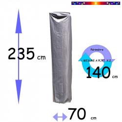Housse pour parasol 235 cm x Largeur 70 cm : dimensions