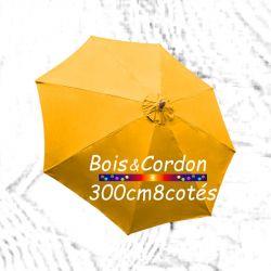 Parasol Lacanau Tournesol 300 cm Bois Frêne : Toile vue de dessus