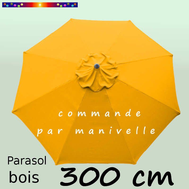 Parasol Lacanau Tournesol 300 cm Bois Manivelle