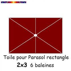 toile pour parasol rectangle 2x3 couleur Terracotta