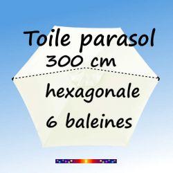 Comment prendre la mesure de la toile Ecru Blanc Cassé Ø300 cm (6 cotés-mât central Lacanau)