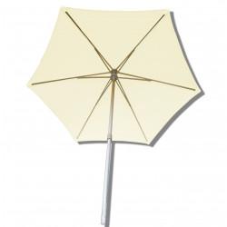 Parasol Arcachon Ecru 300 cm Alu : vu de dessous