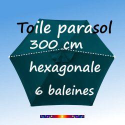 Bleu Océan la nouvelle couleur de la gamme des toiles de remplacement hexagonale diametre 300 cm : la prise de cotes