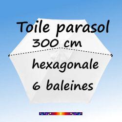 Prenez la mesure de la toile Blanc Jasmin Ø300 cm (6 cotés-mât central Lacanau)