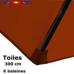 Toile de remplacement pour parasol HEXAGONAL diametre 300 cm couleur Terracotta : détail du pochon d'accrochage de la baleine