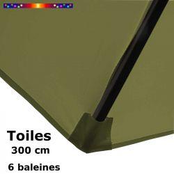 Pour fixer la toile Vert Lichen hexagonale Ø300 cm (6 cotés)