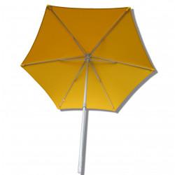 Parasol Arcachon Jaune d'Or 300 cm Alu : vu de dessous