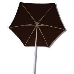 Parasol Arcachon Mocca 300 cm Alu : vu de dessous
