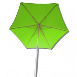 Parasol Arcachon Vert Limone 300 cm : vu de dessous