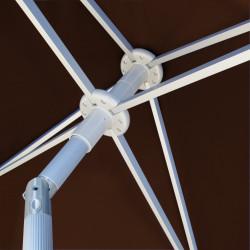 Parasol Arcachon Mocca 200 x 250 cm Alu : détail de l'armature et de l'inclinaison