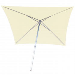 Parasol Arcachon Ecru 200 x 250 cm Alu : vu de dessous