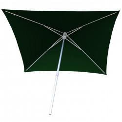 Parasol Arcachon Vert Pinède 200 x 250 cm : vu de dessous