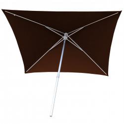 Parasol Arcachon Mocca 200 x 250 cm Alu : vu de dessous