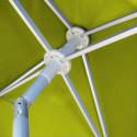 Parasol Arcachon Vert Limone 200 x 250 cm : détail de l'armature et de l'inclinaison
