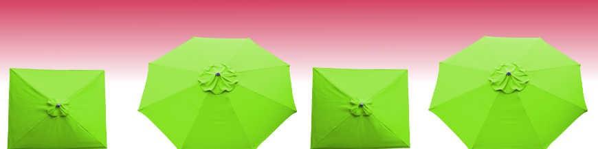 La Boutique du Parasol : Tous les Parasols  de notre collection avec Toiles de couleur Vert Lime