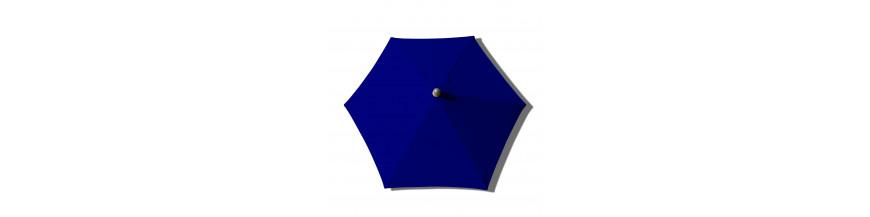 Tous les parasols  de notre collection avec Toiles de couleur Bleu Saphir