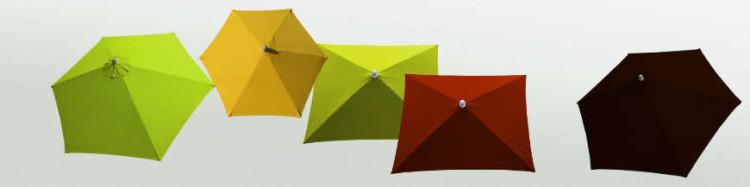 Parasol Arcachon rond 300 cm, aluminium à manivelle, toile anti-UV