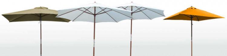 Parasol Lacanau,structure bois et ses 15 couleurs de toiles