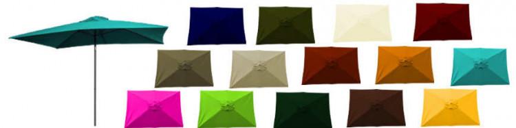 Les couleurs des toiles de remplacement , de rechange ou de renovation pour parasol rectangle 2x3 ou 3x2